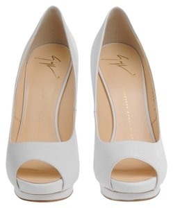 Giuseppe Zanotti Heels Platform Bridal White Napa Leather Pumps