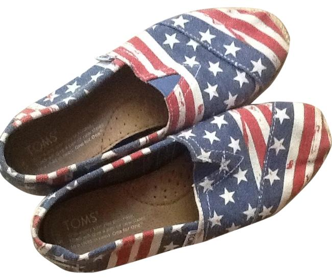 Item - Red White and Blue Flats Size US 5 Regular (M, B)