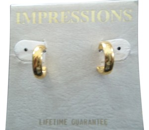 Impression Bridal Impressions, Gold Finish Pierced Earrings
