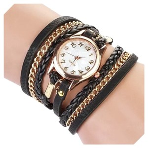 Other New Black & Gold Chain Wrap Watch