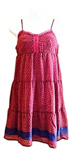Mossimo Supply Co. short dress Pink Coral Empire Waist Floral Summer on Tradesy