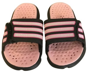 adidas Pink and Black Sandals