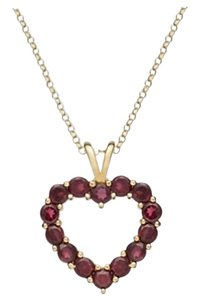 Victoria Townsend 2 Piece Listing: Pave Crystal Mother & Child Pendant + Garnet Heart