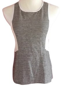 Sanctuary Clothing Top Cream with black stripes. White back