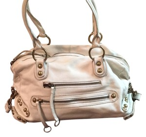 Linea Pelle Satchel in Cream