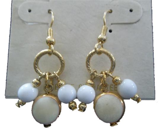 Impression Bridal Impressions, White or Navy, Dangle Pierced Earrings