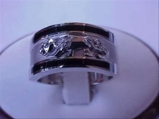 "White 14kt Gold ""Cartier""Style Panther Leopard Cat Diamond Ring"