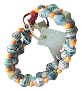 Chan Luu Beautiful recycled paper bracelet with popping colors