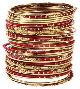 Amrita Singh AMRITA SINGH U Choose Sz S or M New Marakesh Bangle Set Ruby Gold Free SHIP
