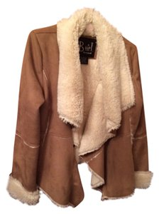 B Hip by me jane Collar Warm brown faux suede with tan faux fur inside Jacket