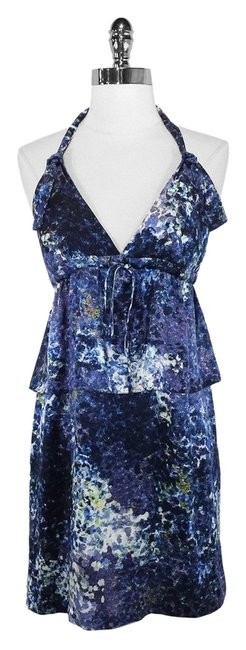 Edun short dress Print Silk Halter on Tradesy
