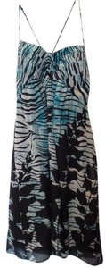 BCBG Paris Max Azria Silk Maxi Small Batik Dress