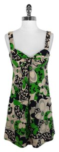 A.B.S. by Allen Schwartz short dress Green, Black & Beige Collection Cotton on Tradesy