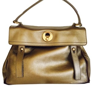 Saint Laurent Satchel in Gold/ Bronze Metallic