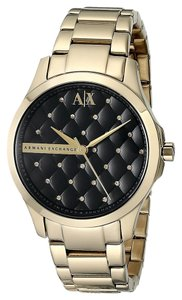 A|X Armani Exchange Women's Gold-Tone Stainless Steel Bracelet Watch 36mm AX5227