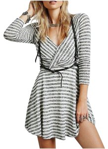 Free People short dress Cream & Black on Tradesy