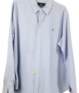 Ralph Lauren Button Down Shirt Light blue and white