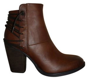 Steve Madden Raglin Ankle Leather Size 8.5 New In Box Cognac Boots