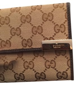 Gucci NWT Gucci Ladies Trifold Margaux Jacquard/Leather Wallet - Style 257015