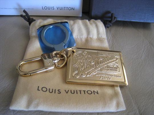 Louis Vuitton Gold Traveling Requisite Key Ring