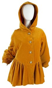 Moschino Pleplum Velvet Hooded Vintage Coat