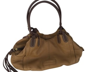 Isabella Fiore Satchel in Tan & Brown