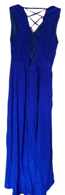 Item - Blue Waterfall Royal Lace Lace Back Wrap Front Mid-length Casual Maxi Dress Size 4 (S)