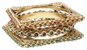 Amrita Singh Amrita Singh New In Package Queen of Hearts Australian Crystal Bangles Green, Red, Black