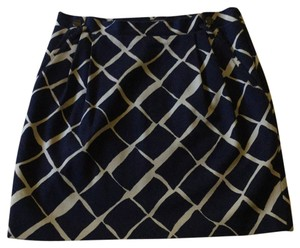 Club Monaco Skirt Navy and Cream
