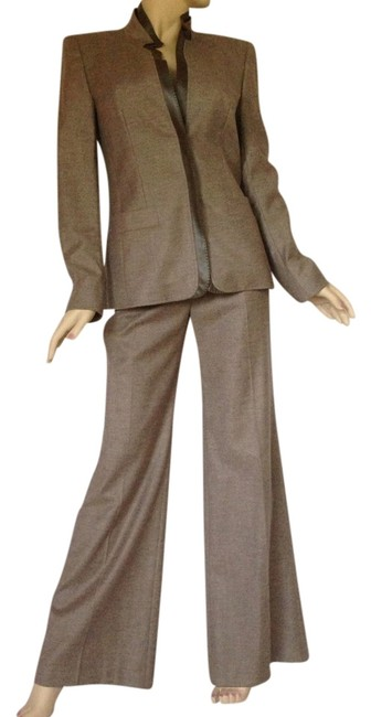Escada Escada Virgin Wool Cashmere Pant Suit In Taupe