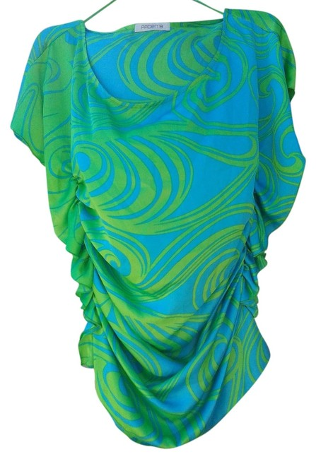 Arden B. Top blue and green