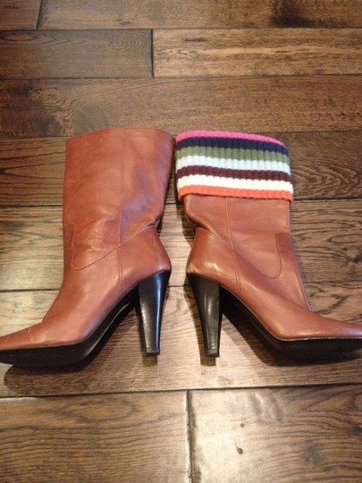 Coach Leather Brown/Tan Boots