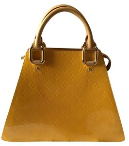 Louis Vuitton Forsyth Patent Satchel in Yellow