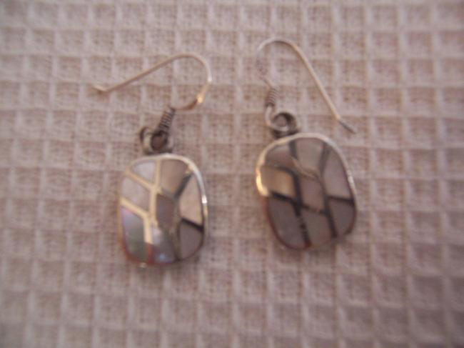 Sterling Abalone Inlay Earrings Sterling Abalone Inlay Earrings Image 1
