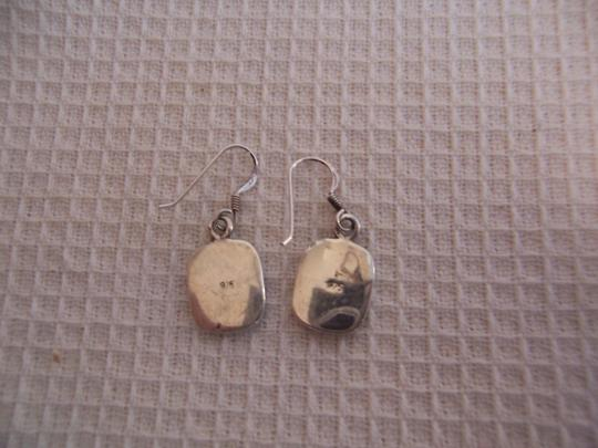 Unknown Sterling Abalone Inlay Earrings