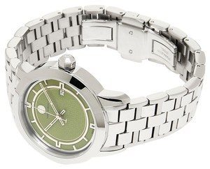 Tory Burch Nwt Tory burch trb1007 olive green background stainless steel bracelet watch $495