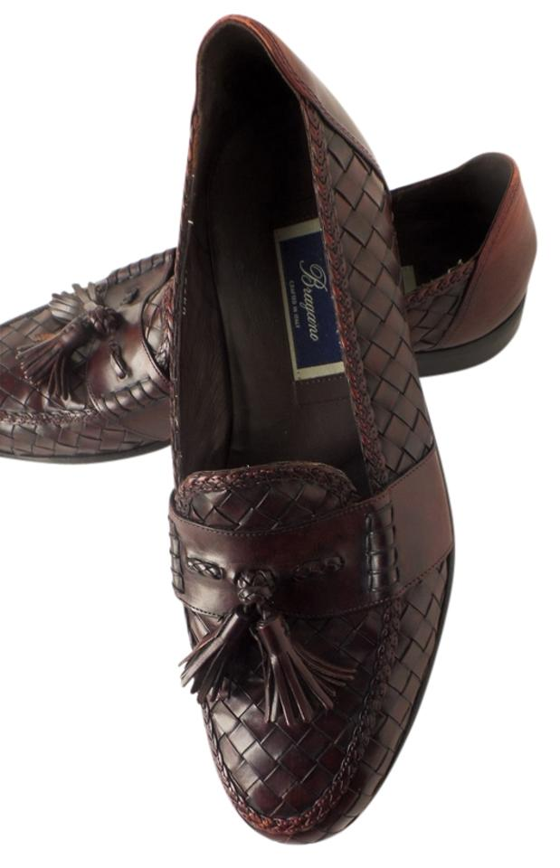 c9e376c5613 Cole Haan Tassel Loafer Woven Leather Burgundy Brown Formal Image 0 ...