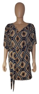 Rachel Kate Print Mini Dolman Sleeves Dress