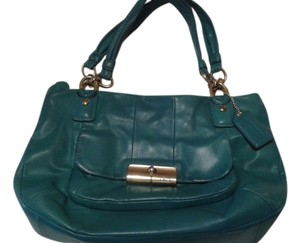 Coach Leather Kristin Tote in Green teal