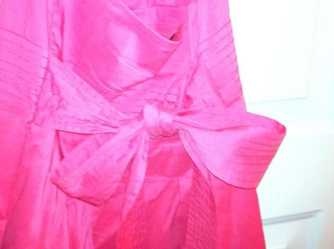 BCBGMAXAZRIA short dress Poppy Pink Halter Halter Ruffle Sundress on Tradesy
