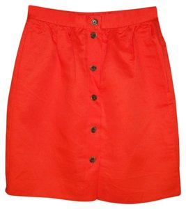 J.Crew Linen Red Mini Mini Skirt