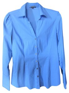 Express Classic Professional Button Down Shirt Blue