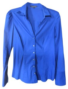 Express Button Down Classic Fitted Button Down Shirt Royal Blue