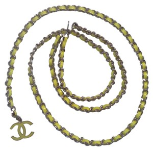 Chanel CHANEL '04A PATENT LEATHER CHAIN LINK CC NECKLACE / BELT