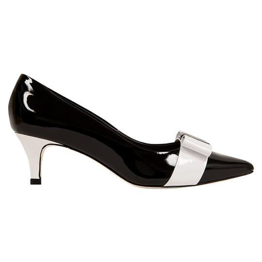 MS Shoe Designs Black / White Pumps