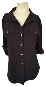 lucy Longsleeves Button Down Shirt Black
