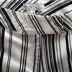 White House | Black Market Capris White with black stripes