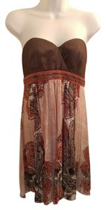 BCBGMAXAZRIA Bcbg Maxazria Brown Paisley Dress