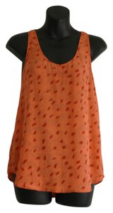 French Connection Cheetah Silk Loose Top orange