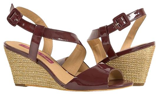 MS Shoe Designs Burgundy Wedges